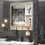 LVSOMT 24'' X 28'' Wall Mounted Bathroom Medicine Cabinet with Mirror, Aluminum...