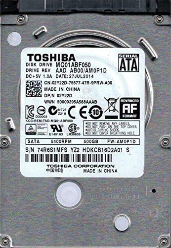 MQ01ABF050 AAD AB00/AM0P1D China Toshiba 500GB