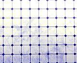 Melody Jane Casa de Muñecas Blanco Azul Efecto Mosaico Papel Miniatura 1:12 Escala Suelo