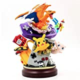 Juguetes de Anime Estatua de Resina Gameboy Pika Mew Charizard Figura de acción Juguetes de ensueño ...