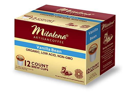 Mitalena Brand - 72 ct. Vanilla Bean Organic Arabica Low Acid Coffee Pods