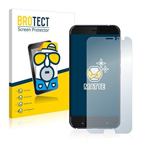 BROTECT 2X Entspiegelungs-Schutzfolie kompatibel mit HTC U11 Bildschirmschutz-Folie Matt, Anti-Reflex, Anti-Fingerprint