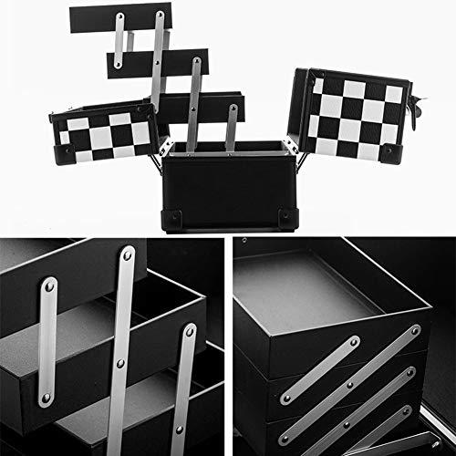 HZXLL Cosmetica-koffers Barberkoffers Vloerkoffer koffer koffer spijker make-up artiest, schoonheidskoffer schoonheidskoffer bagage/Gereedschap/verzenddoos vislijn