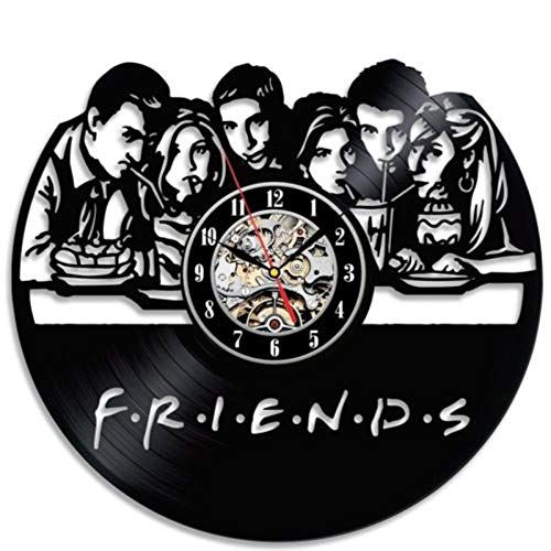 Lámpara de escritorio 3d creative friends tv series reloj negro...