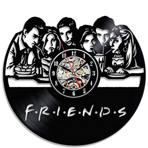 Lámpara de escritorio 3d creative friends tv series reloj negro...