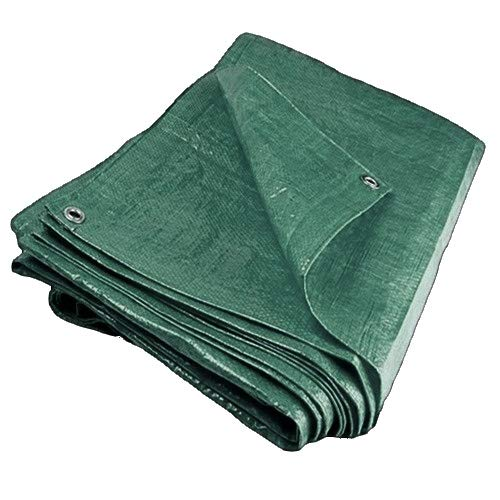 GroundMaster 80gsm Green Economy Tarpaulin Waterproof Outdoor Fishing Camping Ground Sheet Cover 1.8m x 2.4m 6ft x 8ft