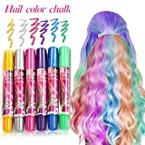 Tiza de Pelo, Cabello Tiza, Coloración temporal Cabello, Hair Chalk Set, 6 Colores Temporal Tiza de Pelo dont have Tóxico Lavables Color de Tiza Para Niños DIY Fiesta y Cosplay