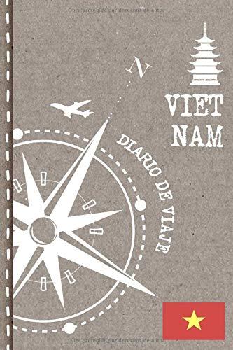 Vietnam Diario de Viaje: Libro de Registro de Viajes - Cuaderno de Recuerdos de Actividades en Vacaciones para Escribir, Dibujar - Cuadrícula de Puntos, Bucket List, Dotted Notebook Journal A5