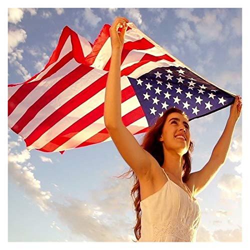 MOLUO Bandera Nacional Doble Cara de impresión de la Bandera Americana de la Bandera Americana Anti-Fade Decoración Banner EE.UU. (Color : Red, Size : 90 x 150cm)