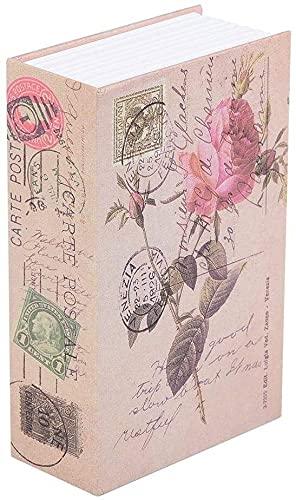 Eeayyygch Libro de papel real seguro Diccionario desviación caja de dinero Diccionario secreto seguro con cerradura de llave libro seguro