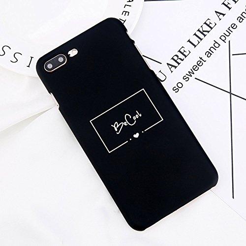 POHONOEO Funda de teléfono Funda para iPhone 7 Plus Carta de Moda BeCool Palabras Casos Funda para iPhone X 8 7 6 6s Plus Mate PC Dura Cubierta Posterior,5719,para iPhone 7 Plus