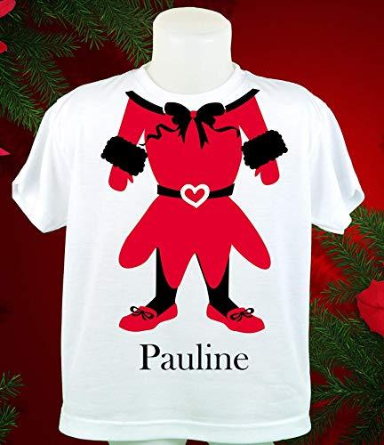 """Kinder T-Shirts Wichteline - in den Größen 116-128 - 140 - bedruckt mit unserem Motiv """"Wichteline"""" für Mädchen und Ihrem Wunschnamen"""