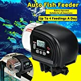 FlikFinz Automatic Fish Feeder for Aquarium with Digital LCD Display for Usage During Work Trip or Travel.