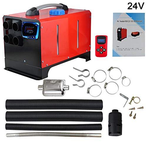 Calefacción de pie, Todo en uno, 5 kW, integración, Cuatro Agujeros, calefacción de Aire diésel, Pantalla LCD, Interruptor, calefacción de Coche con Mando a Distancia
