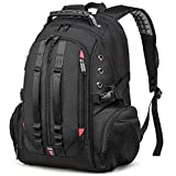 Large 17inch Laptop Backpack,Travel Carry On Backpack,Water-Resistant College Bookbag Overnight Weekender Bag Rucksack