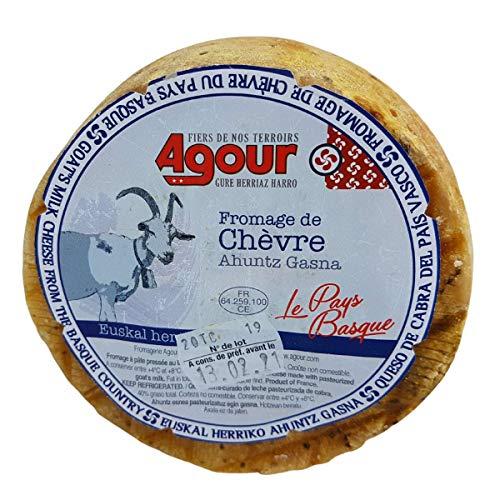 Queso de Cabra del País Vasco Frances - Peso Aproximado 800 gramos - Elaborado por el respetado AGOUR, uno de los productores más laureados de todo el mundo en el World Cheese Awards