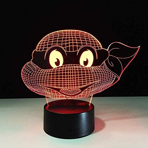 3D Night Light Night Light Night Light Turtle for Turtle Touch Child Teen Gift Halloween Holiday Gift Atmosphere Light