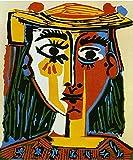 ThinkingPower Lienzo Cuadro Abstracto Pablo Picasso cubismo los Carteles de Arte de Pared e Impresiones óleo en Cuadros de Arte de Pared 60x90cm