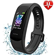 Fitness Tracker AISIRER IP 67 Waterproof Smart Bracelet with Heart Rate Monitor Activity Health Tracker Fitness Wristband Pedometer with Sleep Monitor Smart Watch for iPhone and Android Smart Phones