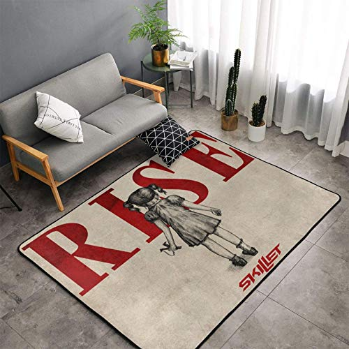 Skillet Band Rise Modern Luxury Indoor Plush Rug for Living Room Room Furry Carpet, Non-Slip Rug Bedroom Rugs 60 X 39 Inches
