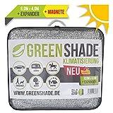 GREENSHADE® ALUNETZ 6m x 4m - 24m² | NEU: inkl. Magnet System | 85% höchste Premium Reflektion | Sonnenschutz | Aluminet Hitzeschutz reduziert Wärmestauung