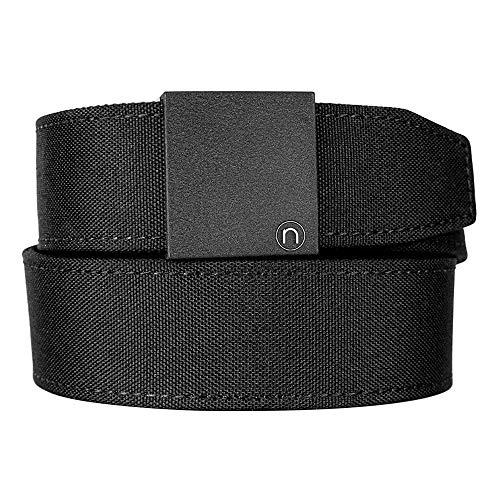 Nexbelt Ratchet Technology EDC Supreme Appendix Black 38mm PreciseFit Nylon Gun Belt Utility Harness for Concealed Carry Unisex