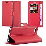 Cadorabo Hülle für HTC Desire 12 - Hülle in Karmin ROT – Handyhülle mit Kartenfach & Standfunktion - Hülle Cover Schutzhülle Etui Tasche Book Klapp Style
