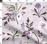 Lila, Blumen, Lavendel, Natur Stoffe - Individuell Bedruckt