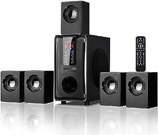 RYSF Sistema de Altavoces de Cine en casa de 5.1 Canales, Panel táctil de Control Remoto de Radio Bluetooth USB SD FM, Son...