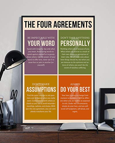 Bem The Four agreements Poster (12' x 18')