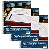 Adams Tax Record Organizer, 9.5 x 11 Inches, with 8 Pre-Printed Pockets (AFR40), 3 Pack