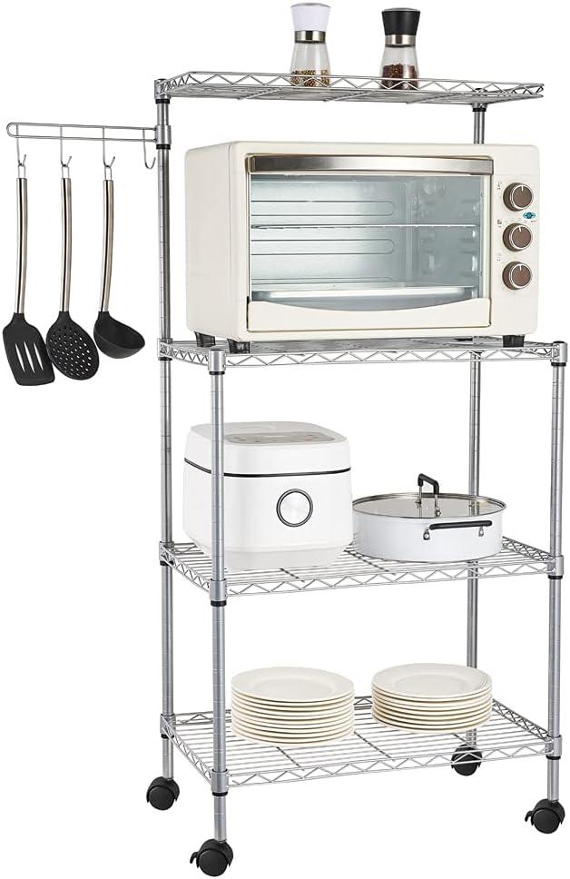 4-Tier Louisville-Jefferson County Mall Ranking TOP7 Standing Baker's Racks Kitchen Microwave Meta Stand