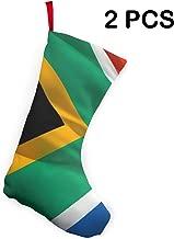 Butymeiyi South Africa Flag 2 Pieces Classic Christmas Stockings Personalized Christmas Stocking Xmas Fireplace