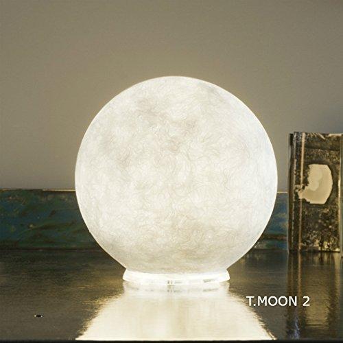 In-es.artdesign IN-ES060011 T Moon 2 Lampe de Table Blanc