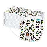10-100 Unidades De_Mascarillas_Desechable 3 capas con PatróN De Dibujos Animados para NiñOs con Cuerda EláStica (100pcs)