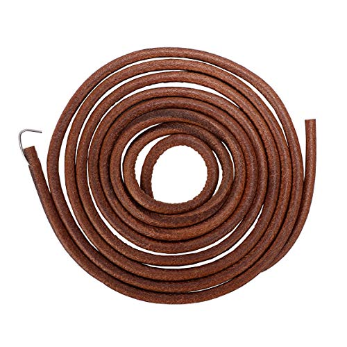 "AIEVE Sewing Machine Belts, 71"" 3/16"" Universal Treadle Sewing Machine Belts Sewing Machine Leather Belt Treadle Machine Belt with Hook for Singer Jones Sewing Machine Parts and Accessories"