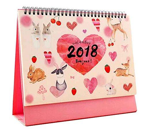 Juni 2017 - Dezember 2018 Kalender Büro Desktop Kalender [G]