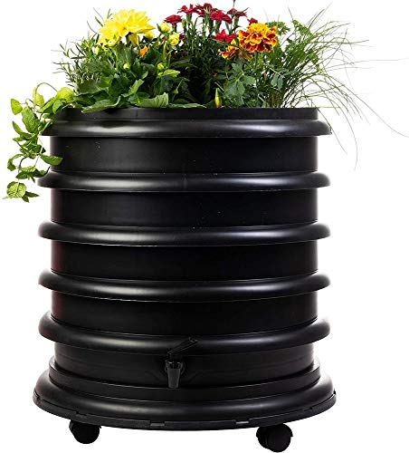 Best Prices! WormBox WB31N Wormery Composter 3 Black Plus Planter-56 litres, 3 Trays + Planter