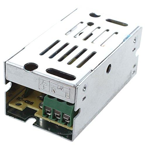 Cikuso Transformateur de tension d'alimentation d'energie de AC 110 / 220V a DC 12V 1A argent