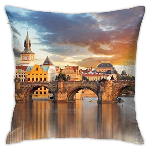 N/A Cojín de silla, decoración interior sofá almohada suave y cómoda almohada Torre Medieval