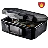 MASTER LOCK Caja Fuerte Portatil [Ignifuga] [con Llave] [Small] L1200 - Ideal para Documentos,...