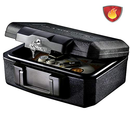 MASTER LOCK Cassetta Di Sicurezza [Ignifuga] [Small] [Con Chiave] L1200 - Ideale Per Documenti, Piccoli Dispositivi Elettronici, Oggetto Prezioso
