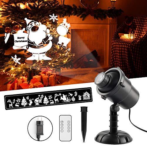 Proiettore a LED 3D Proiettore di luce di Natale Proiettore di luce impermeabile con telecomando Decorazione natalizia Holiday Party Garden