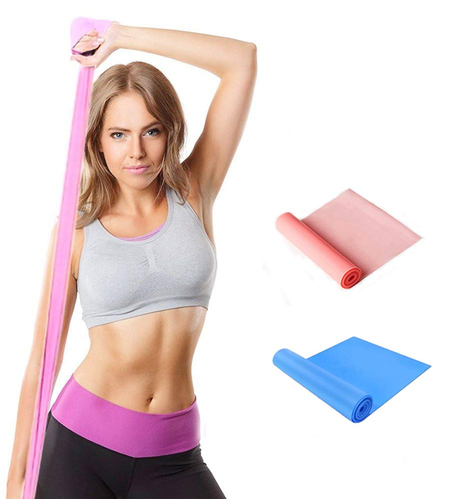 Qian Elastic Bands for Exercise,Professional Latex Resistance Band, Perfect for Strength Training,Physical Therapy, Pilates, at-Home Workouts, Yoga