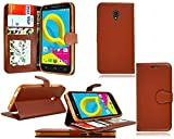 Alcatel a3 xl (6.0) 3G Preimum PU leather wallet book flip
