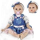 ZIYIUI 22' 55 cm Realista bebe Reborn Muñeca Vinilo Suave Silicona Niña Reborn Muñecos bebé...