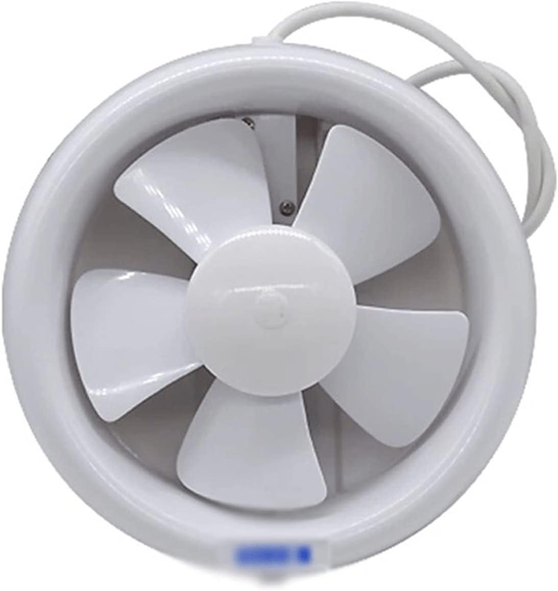 HDCDKKOU Aficionado al extractor de baño, ventilador de extractor de cocina Ventilador de escape de bajo ruido 6 pulgadas Alto Flujo de aire Ventana de pared Tipo de ventilación de oficina para el hog