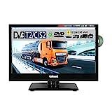 Gelhard GTV-1682 LED-TV 15,6 Zoll Fernseher Full-HD, DVD, DVB-S/S2 -C -T -T2 12V/24V/230V mit PVR