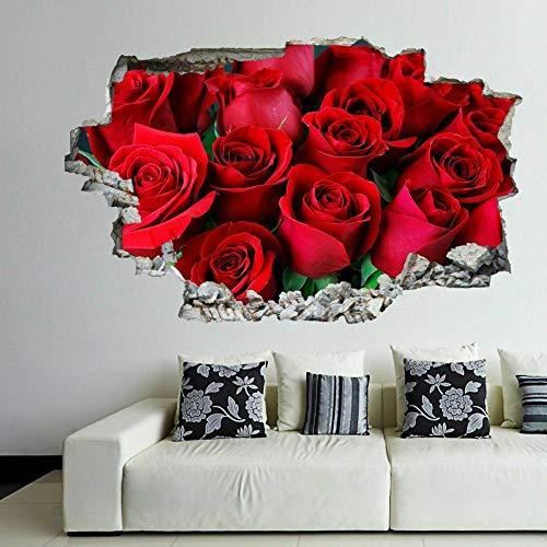 Adesivi murali 3D Rose Fiori Wall Art Adesivi Murali Decalcomania Casa Ufficio Salone di Bellezza Decor EP14 Art Poster