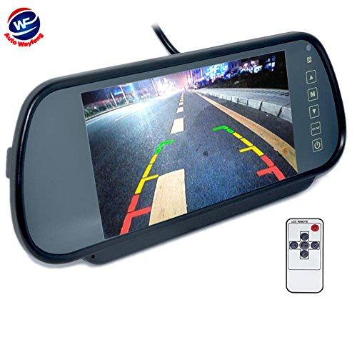 Auto Wayfeng WF® achteruitrijcamera voor auto, waterdicht, 170 graden hoek, kijkhoek & PAL-systeem + 7 inch LCD-display, veiligheidscamera, groot display voor achterzijde, spiegel, parkeerplaats, Moniteur